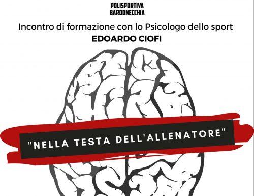 Incontro di formazione con lo Psicologo dello sport Edoardo Ciofi